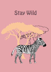 Quotes Poster with Savanna Animal