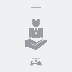 Security services - Minimal flat icon