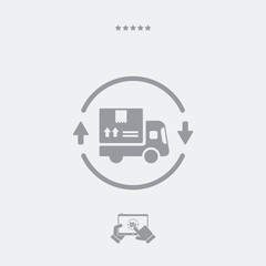 Steady delivery service 24/7 - Vector web icon