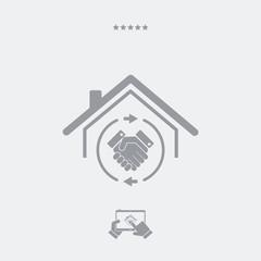 Home satellite receiver - Vector web icon