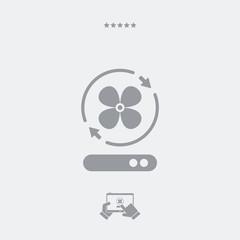 Fan symbol - Vector web icon