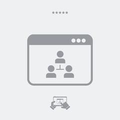Digital network - Vector web icon