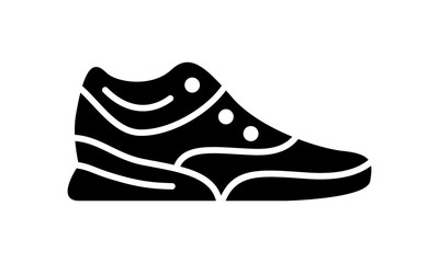 Running shoes icon fitness. Simple style sneaker.