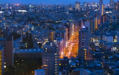 東京夜景・春日通り 街並み