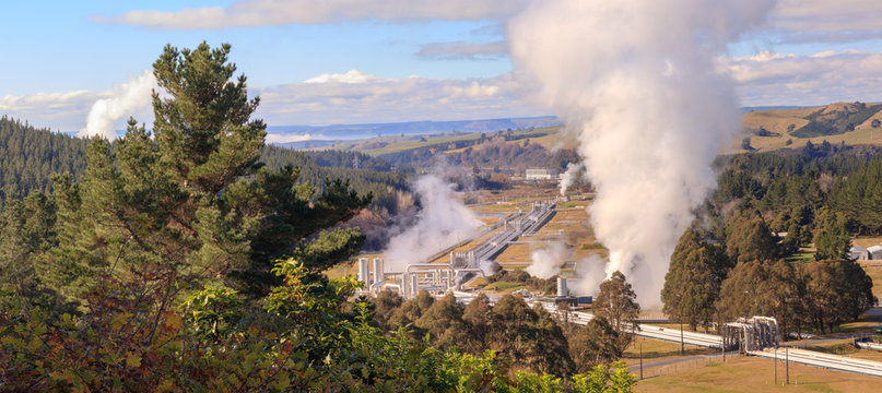 Alternative energy - Wairakei geothermal power station