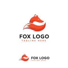 Elegant Fox logo designs vector