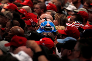 Supporters of U.S. President Donald Trump attend a campaign rally in Las Vegas