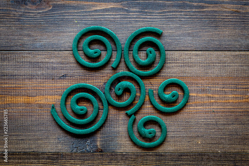 Mosquito Repellent For Outdoor Garden Summer House Picnic Green Spiral On Dark