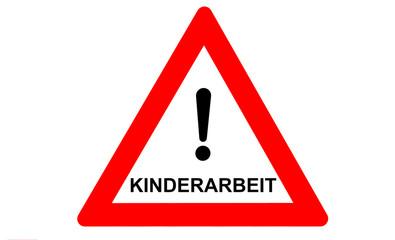 Kinderarbeit Warnschild