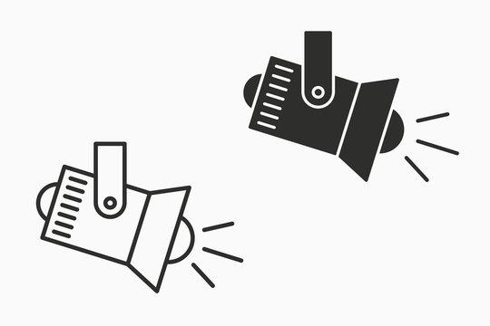 Spotlight vector icon for graphic and web design.