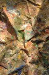 Photo sur Toile Les Textures abstract background from crumpled, dirty and stained fabric