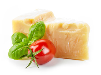 cheese, basil and tomato