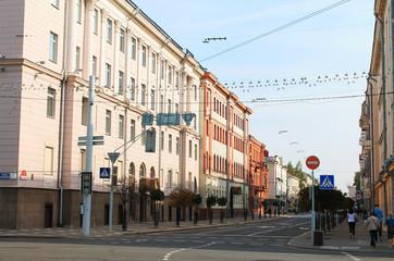 The capital of the Republic of Belarus. - Minsk city. Karl Marx street view 5.