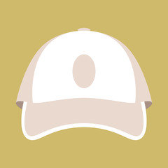 baseball cap vector illustration flat style front