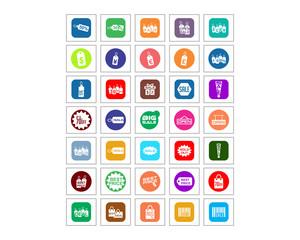 sale price discount shop market image vector icon logo