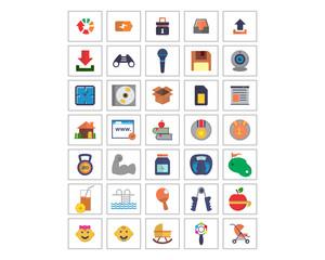 variation mixed image vector icon logo symbol set