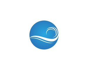 Wave logos symbol vector