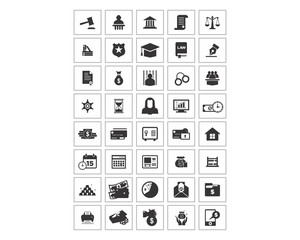 variation mixed black law finance image vector icon logo symbol set