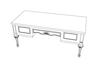 sketch of a desk vector