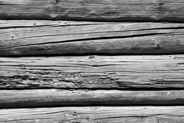 Old grunge wooden wall pattern in black and white.