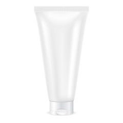Cream tube. White container
