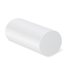 White cylinder mockup. 3d template