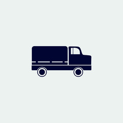truck icon, vector illustration. flat icon