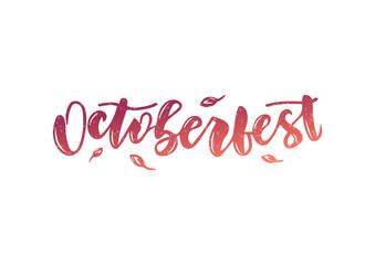 Hand drawn lettering phrase Octoberfest