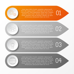 Layout of bookmark infographic with icons. Vector.