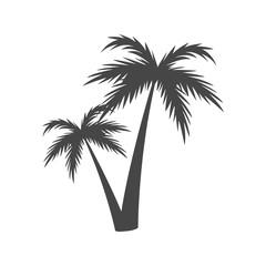 Silhouette palm tree, Palm tree icon