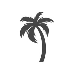 Silhouette palm tree, Palm tree icon