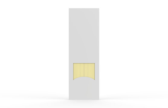 White Blank Spaghetti Box, Mock-up Template On Isolated White Background, 3D Illustration