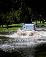 Storm Bronagh causes flash flooding in Newcastle-under-Lyme
