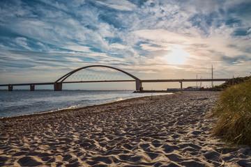 Fehmarnsundbrücke zur Insel Fehmarn an der Ostsee