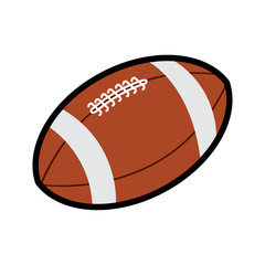 American football icon symbol  American football isolated on white background vector illustration