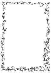 Doodle frame with  doodles decorative line ornament background.