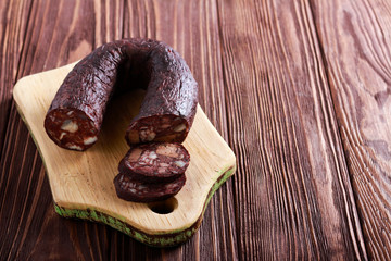 Black pudding - blood, meat and fat sausage