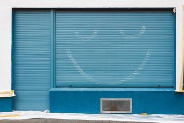 Smiling Roller Blind