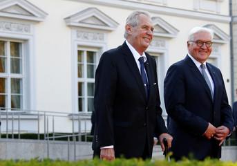 German President Steinmeier meets Czech President Zeman in Berlin