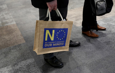 A delegate holds a bag during the UKIP party conference in Birmingham