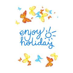Enjoy holiday card
