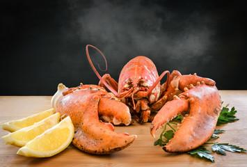 homard sortant de la cuisson