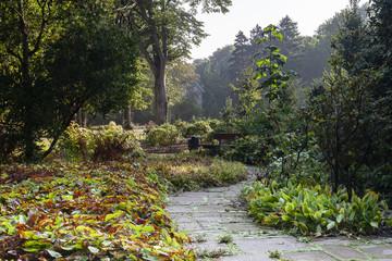 Stadtgarten Bottrop im Herbst und in der Morgenstunde