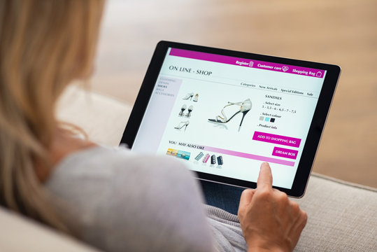 Woman doing online shopping
