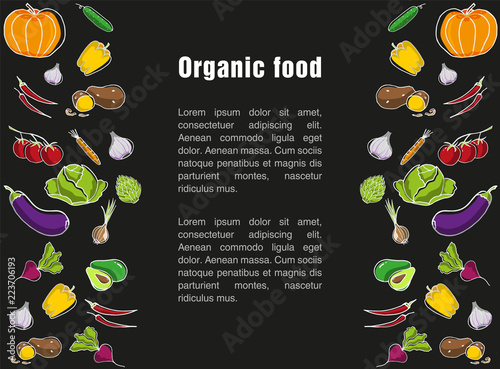 advertising poster for the grocery store template for organic food