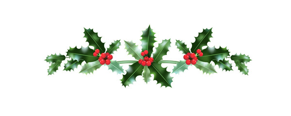 Festive Christmas holiday decor