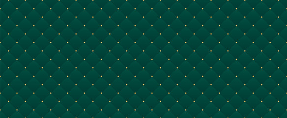 Dark green color. Deep emerald seamless pattern for premium royal party. Luxury template with vintage leather texture wallpaper. Background for invitation card. Festive traditional christmas backdrop Fototapete
