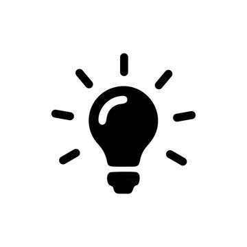 bulb electricity vector icon