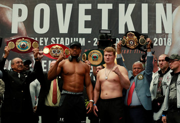 Anthony Joshua & Alexander Povetkin Weigh-In