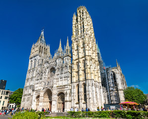 Cathedral Notre Dame of Rouen in France